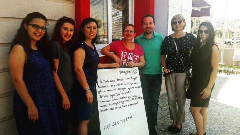 Uzman Odyolog Julie KOŞANER, Ege Ses Terapi Özel Eğitim ve Rehabilitasyon Merkezini ziyareti